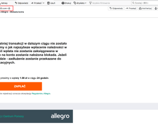 Nierozliczone Zobowiazanie Allegro Mail Od Oszustow Portal Asta24 Pl Pila Informacje I Wydarzenia